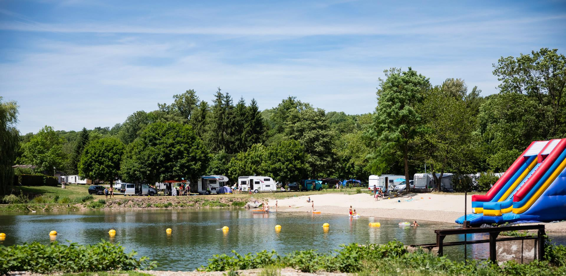 Camping at the beach, lake side, by the river in Alsace