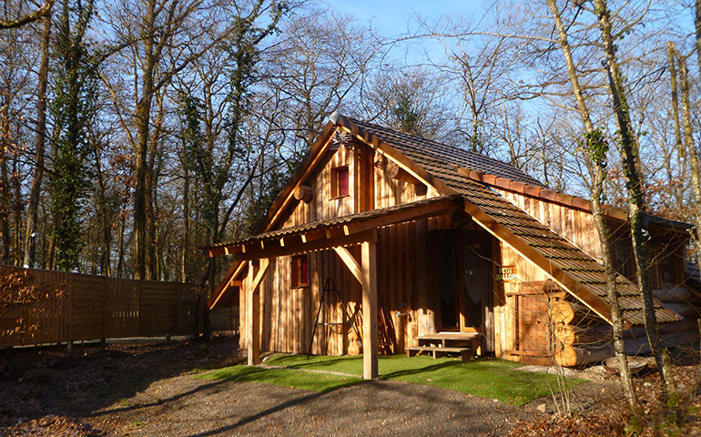Wooden logs chalet up for holidays rental nearby the wines road of Alsace