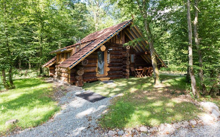 Holiday rentals of log cabins and chalet - Ballon d'Alsace: campsite near Strasbourg