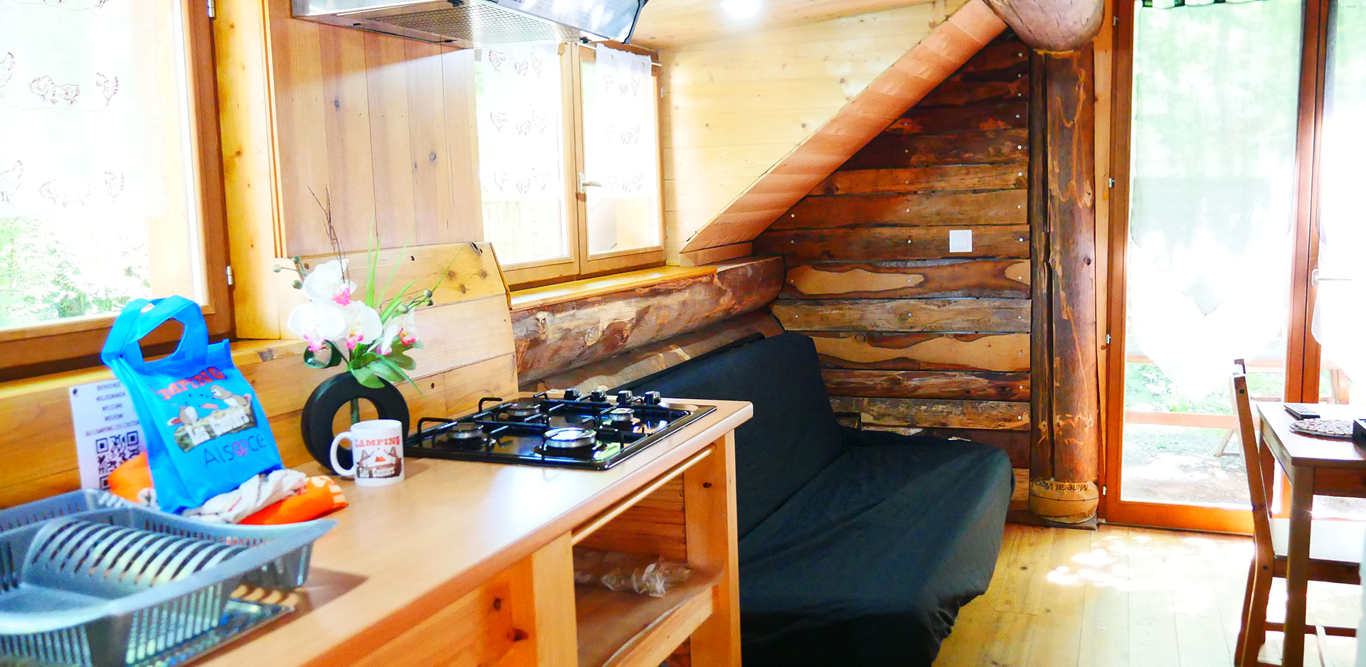 Holiday rentals of log cabins and wooden chalet at the foothills of the Vosges Mountains