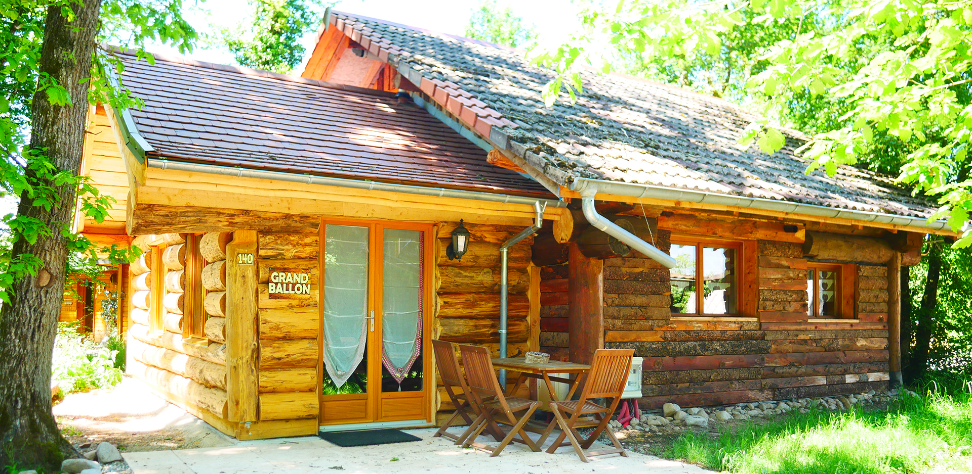 Wooden logs chalet up for holidays rental