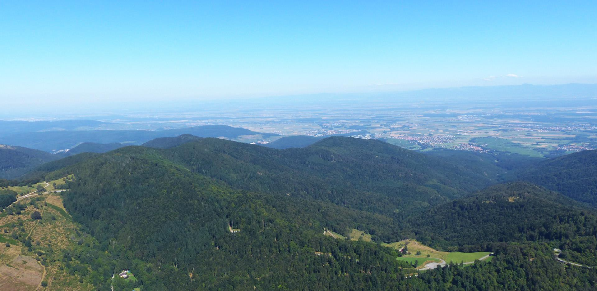 Bird's eye view of the Vosges Mountains
