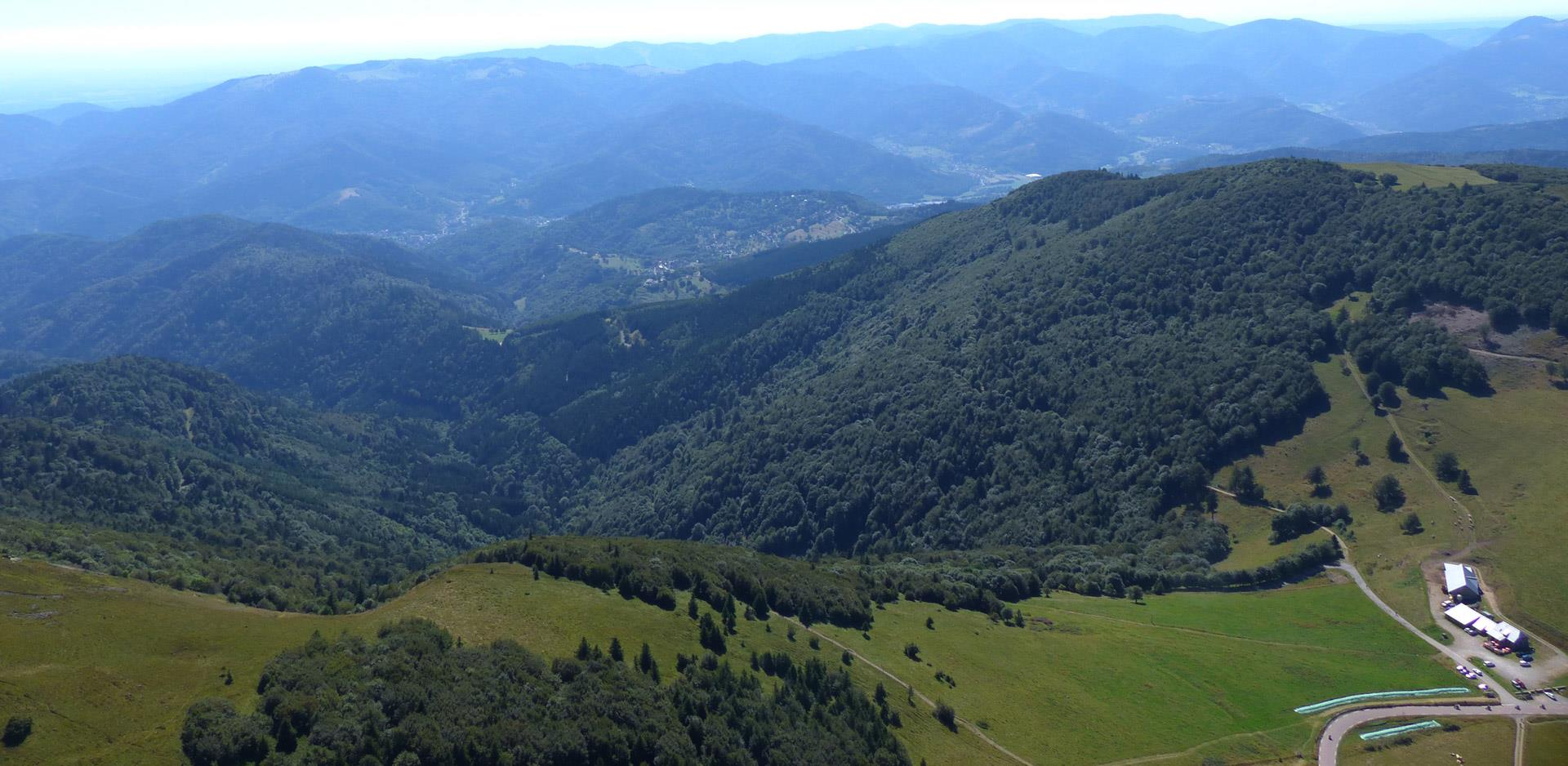Bird's eye view of the Doller Valley